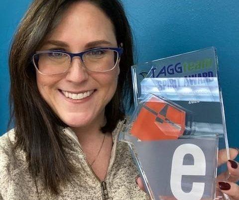 Melody Moore with TAGG Spirit Award